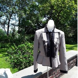 Zara Woman Ruffle Jacket Sz Med